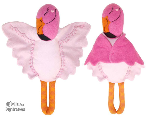 Flamingo Stuffed Animal Sewing Pattern by Dolls And Daydreams  DIY Lovie