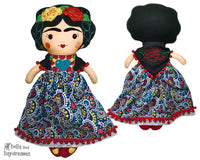 ITH Mexican Folk Art Doll Pattern by Dolls And Daydreams
