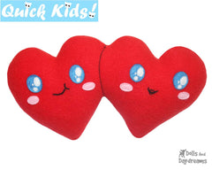 Quick Kids Forever Mine Double Hearts Sewing Pattern