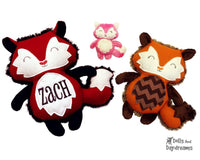 Embroidery Machine Fox Pattern - Dolls And Daydreams - 1