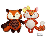 Baby Fox Sewing Pattern - Dolls And Daydreams - 1