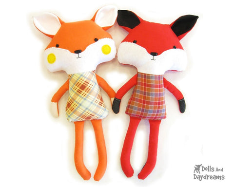 Fox Sewing Pattern - Dolls And Daydreams - 1