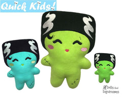 ITH Quick Kids Bride of Frankenstein Pattern