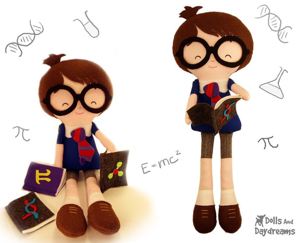 Master Tippy Toes Harry Potter Fan Art Doll Sewing Pattern - Dolls And Daydreams - 1