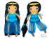 ITH Genie Princess Jasmine doll Pattern machine embroidery doll by dolls and daydreams