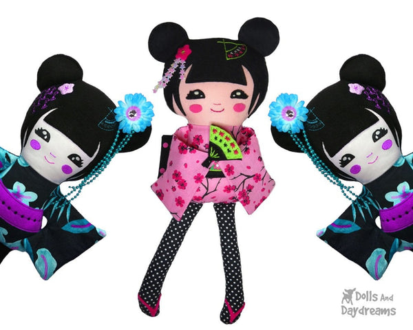 Geisha Sewing Pattern - Dolls And Daydreams - 6