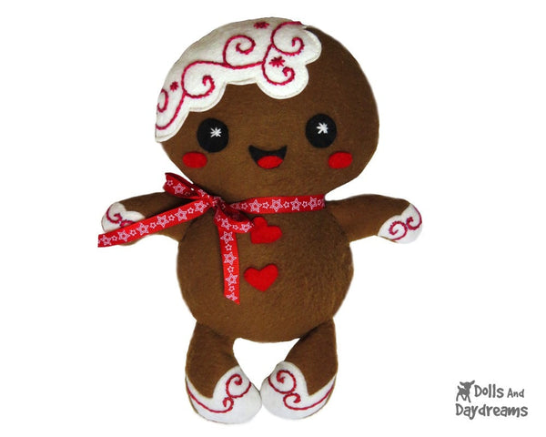 Gingerbread Christmas Pud Sewing Pattern - Dolls And Daydreams - 4