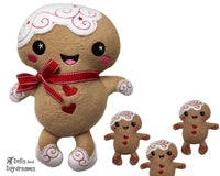 Embroidery Machine Gingerbread Man ITH Pattern - Dolls And Daydreams - 1
