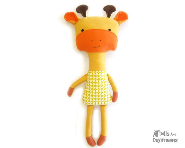 Giraffe Sewing Pattern - Dolls And Daydreams - 1