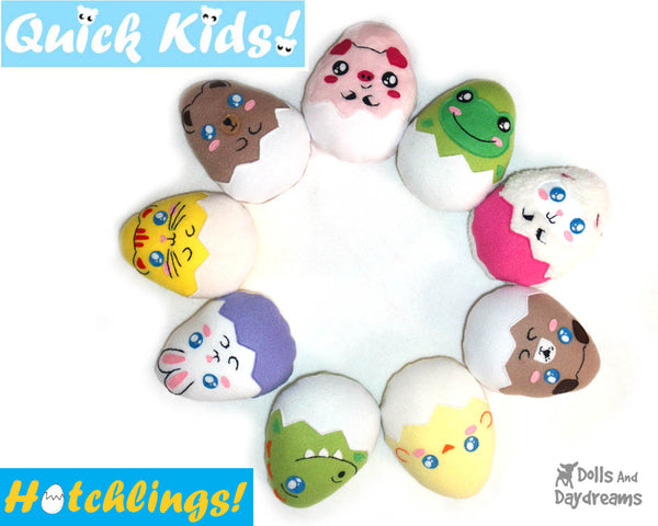Discounted Quick Kids Hatchlings Sewing Pattern Pack 2