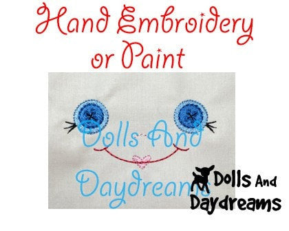 Hand Embroidery Or Painting Button Baby Doll Face Pattern - Dolls And Daydreams - 4