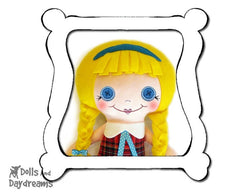 Hand Embroidery Or Painting Button Baby Doll Face Pattern