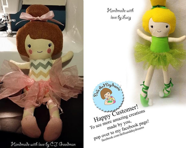 Embroidery Machine ITH Ballerina Doll Pattern - Dolls And Daydreams - 5