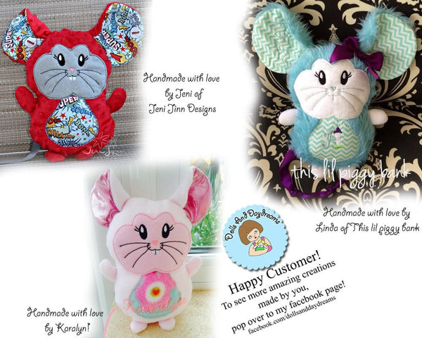 Embroidery Machine Mouse Pattern - Dolls And Daydreams - 5