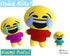 ITH Quick Kids Happy Cry Emoji Doll Plush Pattern DIY Machine Embroidery In The Hoop Toy