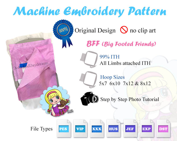 ITH BFF Kitty Cat Pattern