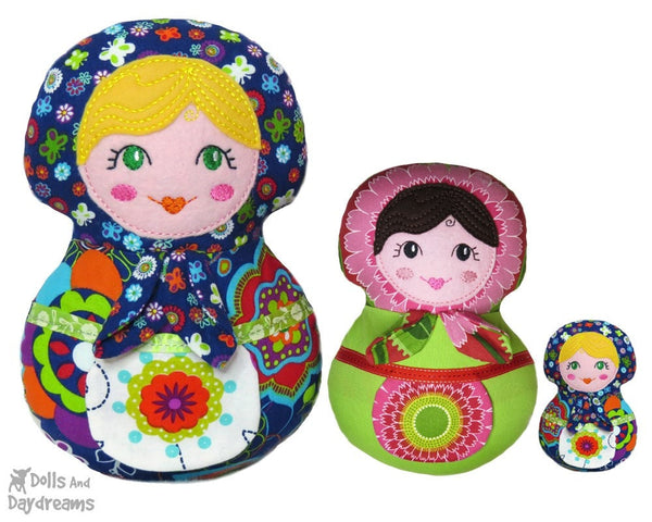 Embroidery Machine Babushka Pattern - Dolls And Daydreams - 3