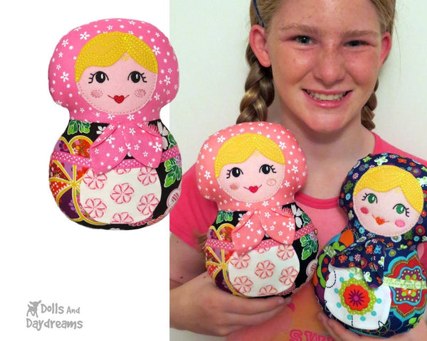 Embroidery Machine Babushka Pattern - Dolls And Daydreams - 5