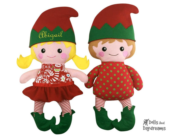Embroidery Machine Elf Pattern - Dolls And Daydreams - 3