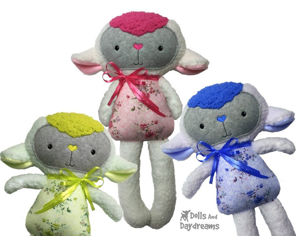 ITH Big Lamb Pattern - Dolls And Daydreams - 3