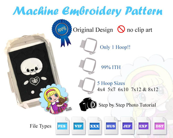 Discounted ITH Quick Kids Skelly Pets Pattern Pack