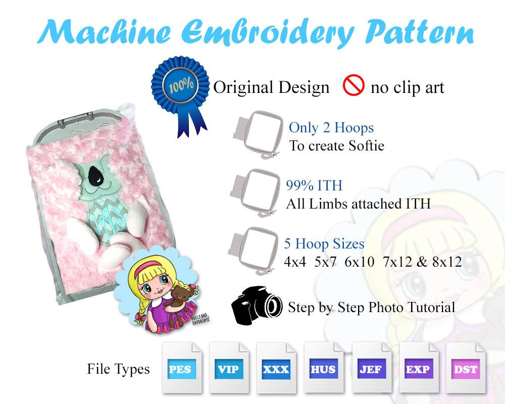 embroidery machine bunny rabbit pattern dolls and daydreams
