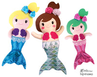 Embroidery Machine In The Hoop Mermaid Doll Pattern by Dolls And Daydreams DIY Mermaids soft toy photo tutorial