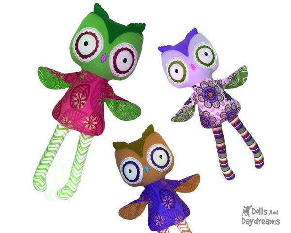 ITH Big Owl Pattern - Dolls And Daydreams - 3