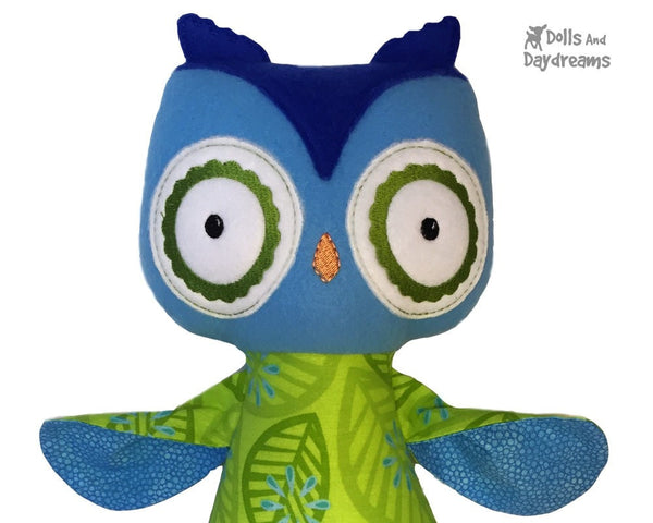 ITH Big Owl Pattern - Dolls And Daydreams - 4