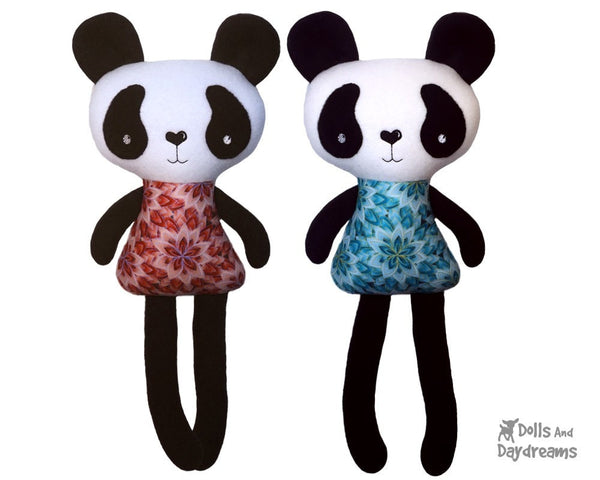 ITH Big Panda Pattern - Dolls And Daydreams - 1