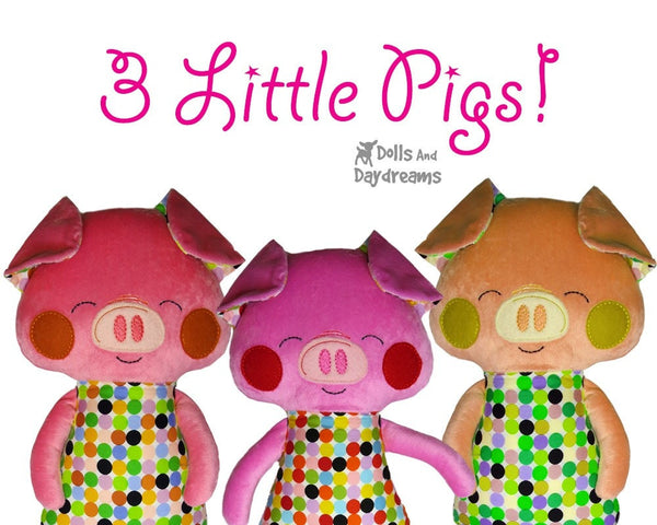 ITH Big Pig Pattern - Dolls And Daydreams - 5