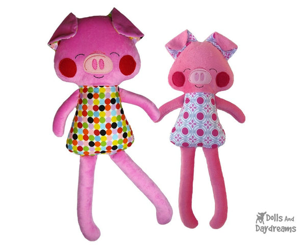 ITH Big Pig Pattern - Dolls And Daydreams - 1