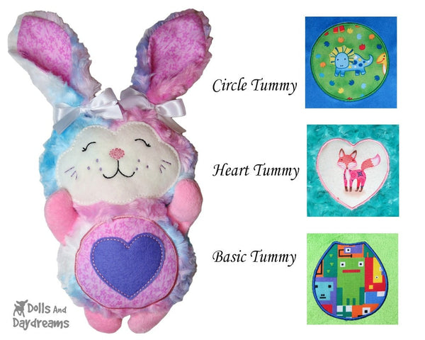 Satin Stitch Tummy Patches A –  Circle, Heart, Basic – Triple Pack A - Dolls And Daydreams - 1