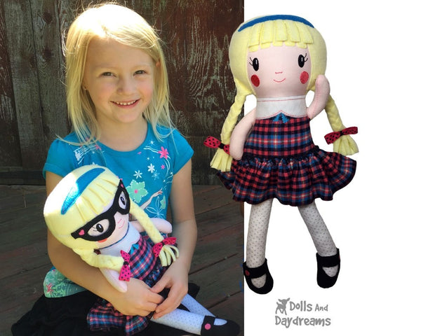 ITH Schoolgirl Doll Pattern - Dolls And Daydreams - 5