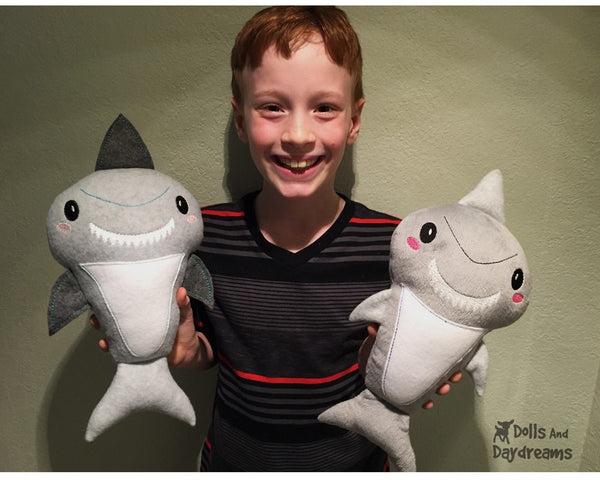 Embroidery Machine Shark Pattern - Dolls And Daydreams - 4