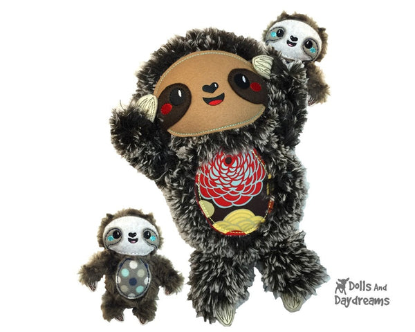 Embroidery Machine Sloth ITH Pattern - Dolls And Daydreams - 5
