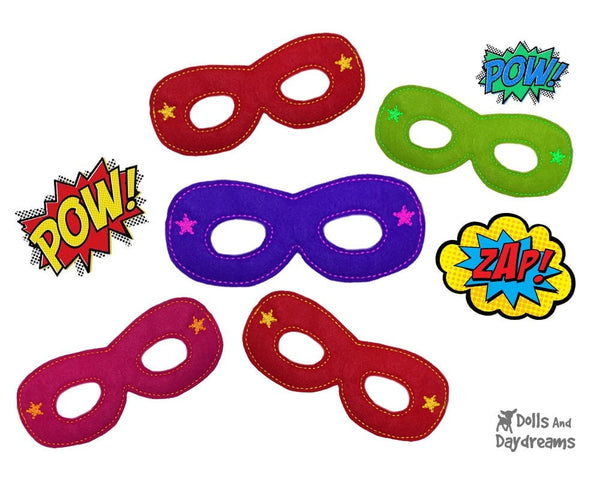 ITH Super Hero Mask Pattern - Dolls And Daydreams - 2