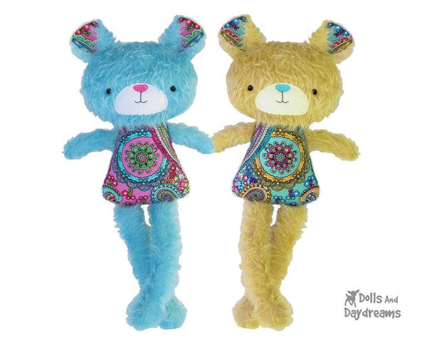 ITH Big Teddy Bear Pattern - Dolls And Daydreams - 3