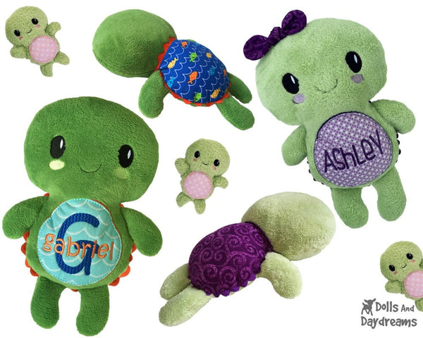 Embroidery Machine Turtle Pattern - Dolls And Daydreams - 3