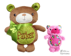 Embroidery Machine Teddy Bear ITH Pattern