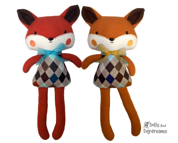 ITH Big Fox Pattern - Dolls And Daydreams - 1