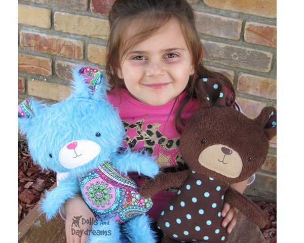 ITH Big Teddy Bear Pattern - Dolls And Daydreams - 5