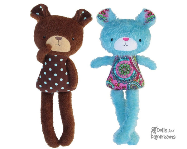ITH Big Teddy Bear Pattern - Dolls And Daydreams - 1