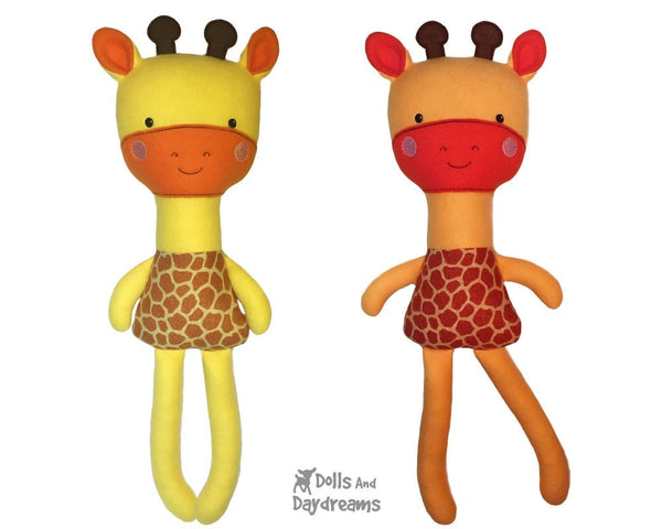 ITH Big Giraffe Pattern - Dolls And Daydreams - 1
