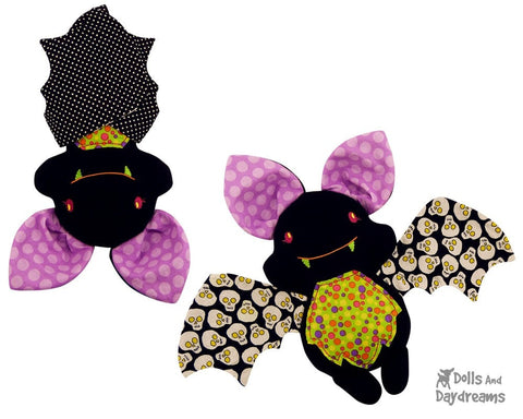 Embroidery Machine Bat Pattern - Dolls And Daydreams - 1