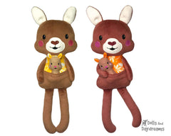 ITH Big Kangaroo & Joey Pattern