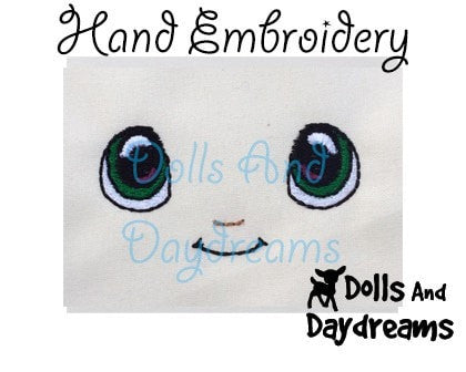 Hand Embroidery Or Painting Kawaii Boy Doll Face Pattern - Dolls And Daydreams - 3