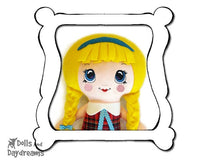 Hand Embroidery Or Painting Kawaii Girl Doll Face Pattern - Dolls And Daydreams - 1