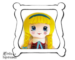 Hand Embroidery Or Painting Kawaii Girl Doll Face Pattern