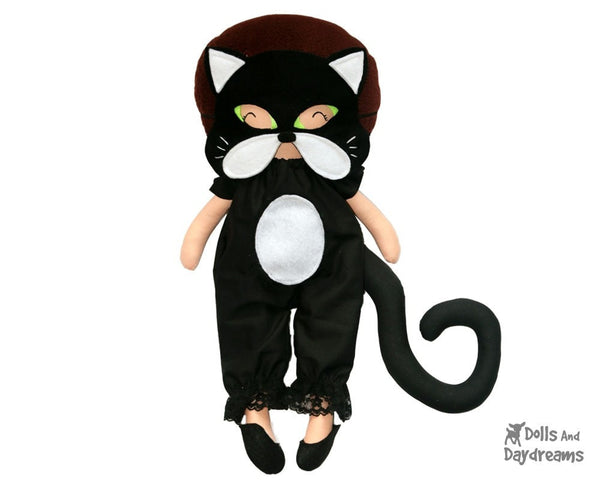 Cat Mask & Tail Pattern - Dolls And Daydreams - 1